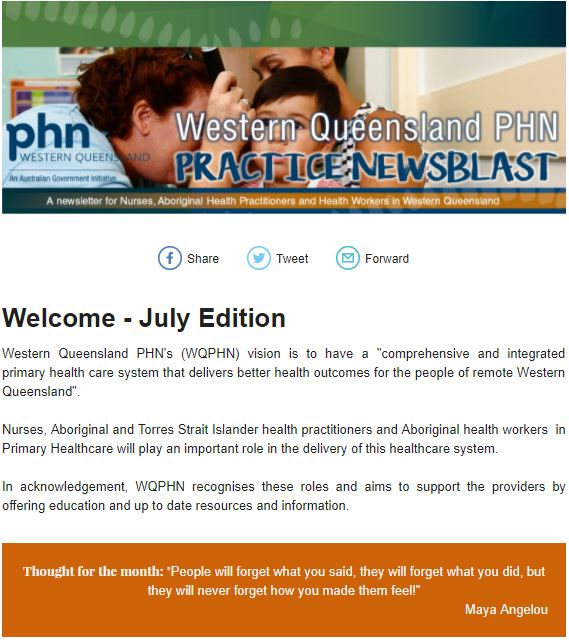Practice News Blast - July