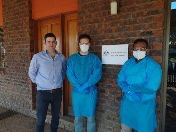 Alex Benn, Ben Brimblecombe and Dr Jeet Patel