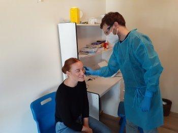Dr Ben Brimblecombe and Patient